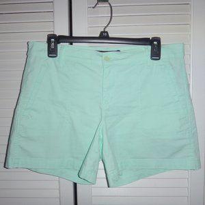 Calvin Klein mint green shorts size 8